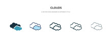 Clouds Icon In Different Style...