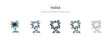 Yucca Icon In Different Style ...