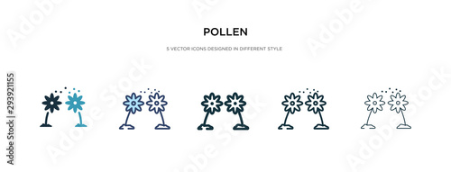 pollen icon in different style vector illustration Billede på lærred