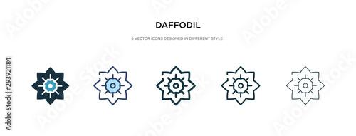 Fotografie, Obraz daffodil icon in different style vector illustration