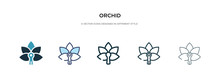 Orchid Icon In Different Style...