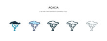 Acacia Icon In Different Style Vector Illustration. Two Colored And Black Acacia Vector Icons Designed In Filled, Outline, Line And Stroke Style Can Be Used For Web, Mobile, Ui