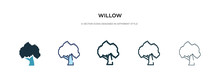 Willow Icon In Different Style...