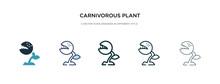 Carnivorous Plant Icon In Diff...