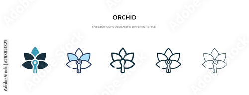 Fototapeta orchid icon in different style vector illustration. two colored and black orchid vector icons designed in filled, outline, line and stroke style can be used for web, mobile, ui obraz