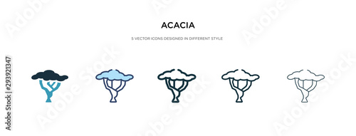 acacia icon in different style vector illustration Wallpaper Mural