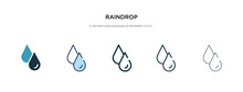 Raindrop Icon In Different Sty...
