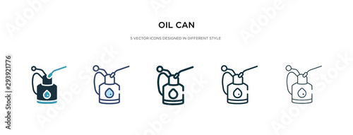 Cuadros en Lienzo oil can icon in different style vector illustration