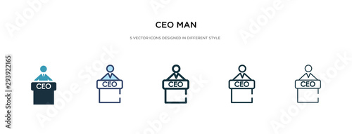 ceo man icon in different style vector illustration. two colored and black ceo man vector icons designed in filled, outline, line and stroke style can be used for web, mobile, ui