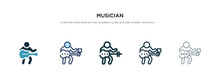 Musician Icon In Different Sty...