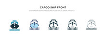 Cargo Ship Front View Icon In ...