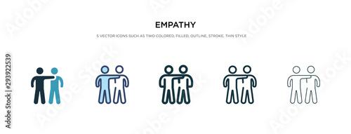 Carta da parati empathy icon in different style vector illustration