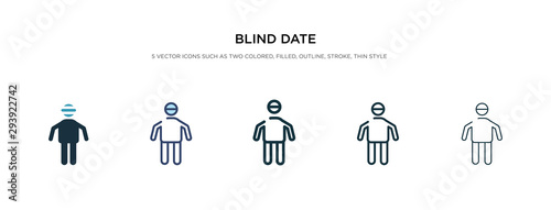 blind date icon in different style vector illustration Wallpaper Mural