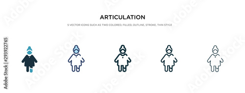 articulation icon in different style vector illustration Wallpaper Mural