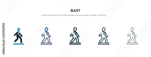 bast icon in different style vector illustration Canvas Print