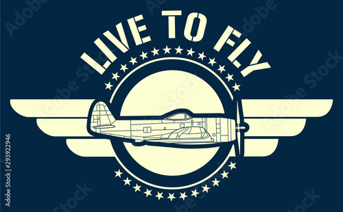 Live to fly art Canvas Print