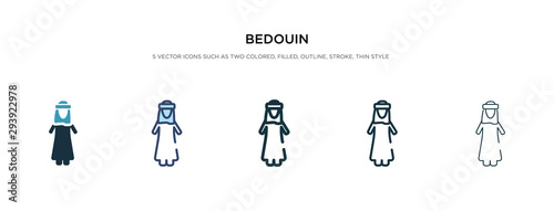 Photo bedouin icon in different style vector illustration