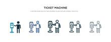 Ticket Machine Icon In Differe...