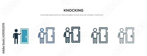 knocking icon in different style vector illustration Fototapete