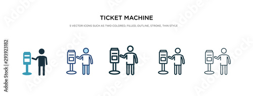 ticket machine icon in different style vector illustration Canvas Print