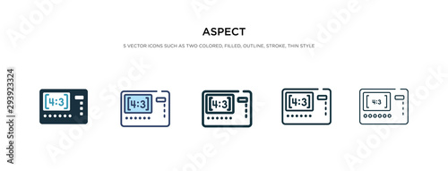 Photo aspect icon in different style vector illustration