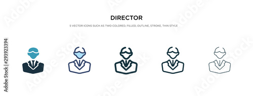 director icon in different style vector illustration Poster Mural XXL