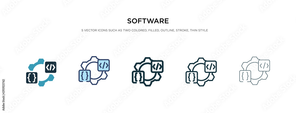 Fototapeta software icon in different style vector illustration. two colored and black software vector icons designed in filled, outline, line and stroke style can be used for web, mobile, ui