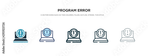 program error icon in different style vector illustration. two colored and black program error vector icons designed in filled, outline, line and stroke style can be used for web, mobile, ui