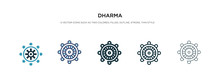 Dharma Icon In Different Style...
