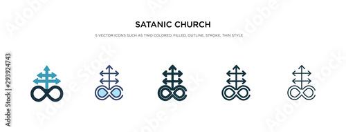 Fotografia satanic church icon in different style vector illustration