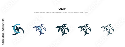 Photo  odin icon in different style vector illustration