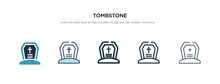 Tombstone Icon In Different St...