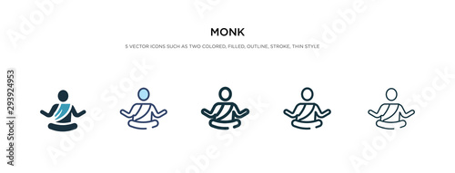 Fotografie, Tablou monk icon in different style vector illustration