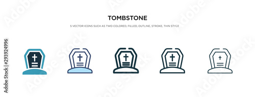 tombstone icon in different style vector illustration Canvas Print