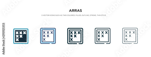 arras icon in different style vector illustration Canvas Print