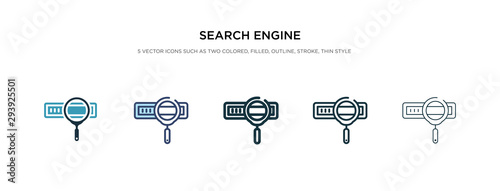 Fotomural  search engine icon in different style vector illustration