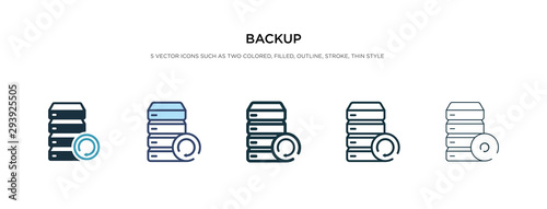 Obraz na plátně backup icon in different style vector illustration