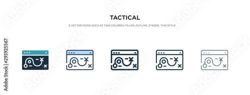 Cuadros en Lienzo tactical icon in different style vector illustration