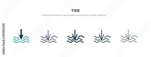 Stampa su Tela tide icon in different style vector illustration