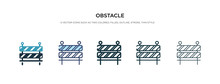 Obstacle Icon In Different Style Vector Illustration. Two Colored And Black Obstacle Vector Icons Designed In Filled, Outline, Line And Stroke Style Can Be Used For Web, Mobile, Ui