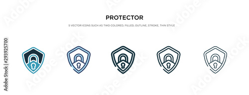Foto protector icon in different style vector illustration