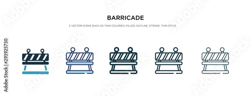 barricade icon in different style vector illustration Wallpaper Mural
