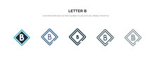 Letter B Icon In Different Sty...