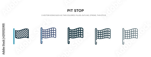 Wall Murals F1 pit stop icon in different style vector illustration. two colored and black pit stop vector icons designed in filled, outline, line and stroke style can be used for web, mobile, ui