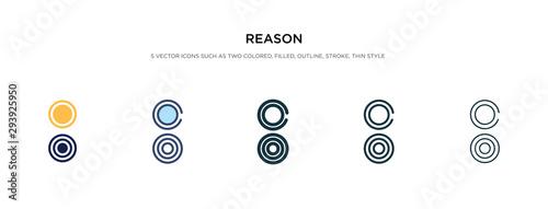 Fotografía  reason icon in different style vector illustration