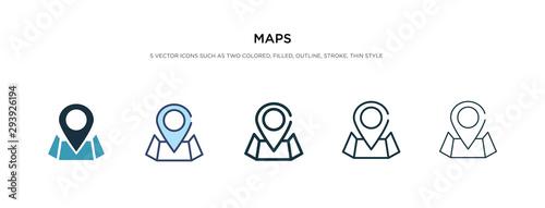 Obraz na płótnie maps icon in different style vector illustration