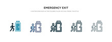 Emergency Exit Icon In Differe...
