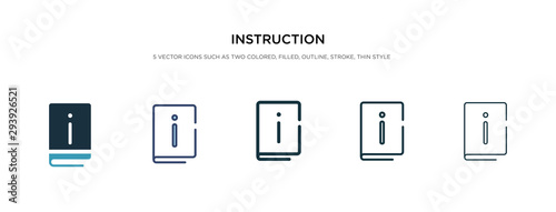 Fototapeta instruction icon in different style vector illustration