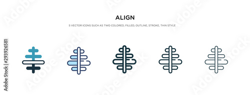 Photo align icon in different style vector illustration