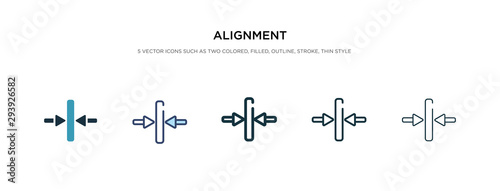 alignment icon in different style vector illustration Wallpaper Mural